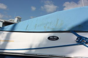 Worn out boat canvas for replacement